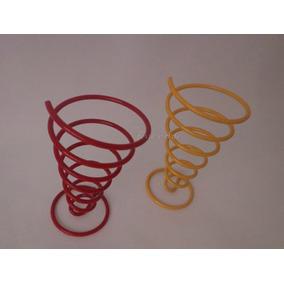 Suporte De Batata Frita No Cone-cônico Colorido-kit 4 Unidad