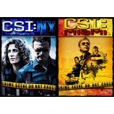 Csi New York + Csi Miami - 19 Temporadas Dublado + Encarte.