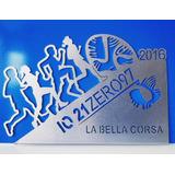 Trofeo Placa Plateada Running Patin Tenis Golf X 15 Cm