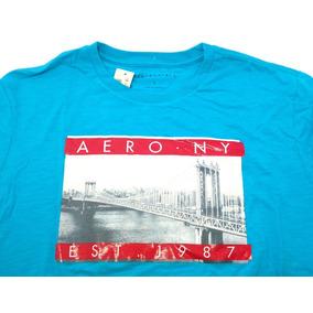 Camisa Masculina Aéropostale Original Azul Aero Ny Est. 1987