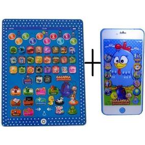 Tablet Infantil Educativo + Celular 3d Galinha Pintadinha