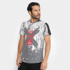 556570fb4f Camiseta Overcore Estampada Masculina