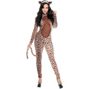 Sexy Disfraz Leopardo Animal Print Con Cola Y Orejas 8754