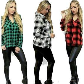 d5cf0b218e Camisas+xadrez+feminina - Camisa Casual Manga Longa Femininas Verde ...