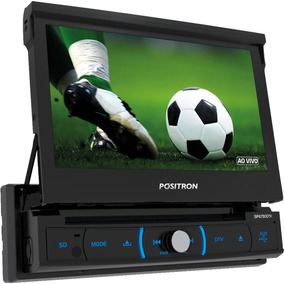 Dvd Player Pósitron Sp6730dtv 1din Retrátil Bt Tv Esp Usb S