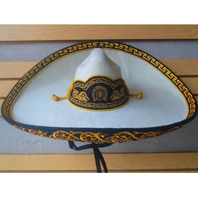 Sombrero Charro Hueso Oro Adulto Fino Escaramuza Mariachi 8a04a019cc4f