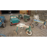 Pedalcar Lata Triciclo Verde Antigo Jeep Bandeirante