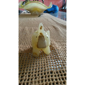 Escultura Rara Esculpida Elefante Natural Gemstone