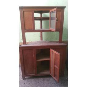 Mueble Antiguo Esquinero De Madera .