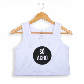 3fc5942fc Cropped Morena Deluxe S Acho - Camisetas e Blusas no Mercado Livre ...