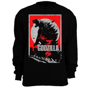 Godzilla 2014 Logo Sudadera Crewneck Gamera King Kong Monstr