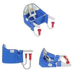 Cadeira Alimentação Portátil Fit Mesa Bebê Azul