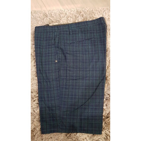 Short Volcom Original Talla 40 Azul Cuadrícula Para Hombre