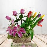 Delivery De Flores En Lima Arreglo Floral Lirios Con Tulipan