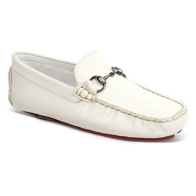 Sapato Masculino Mocassim Sandro Moscoloni Caribean Branco