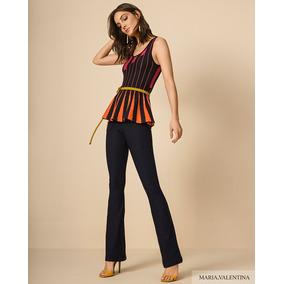 Calça Jeans Maria Valentina - Calças Feminino no Mercado Livre Brasil eb63f39ea8187