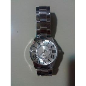 Relógio Feminino Pulseira De Aço Prata