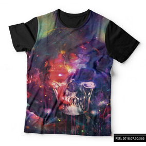 Camiseta Caveira Galaxy Print - Camisetas para Masculino no Mercado ... 6dad9eccc1c