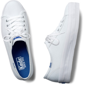 Tênis Keds Triple Kick Canvas Branco Original Novo