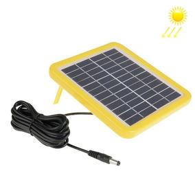 12v 2w Panel Solar Portatil Marco Soporte 5,5 2,1 Puerto