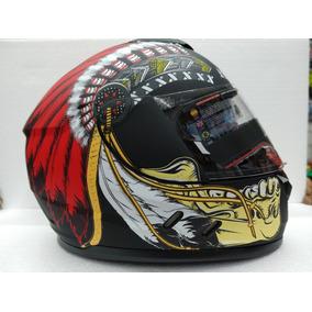 Casco Indian Chief Rojo Rider One