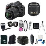 Nikon D3200 24.2 Mp Cmos Slr Digital Con 18-55mm F / 3.5-5.6