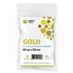 Sleeve - Meeple Virus - Gold - 80x120mm