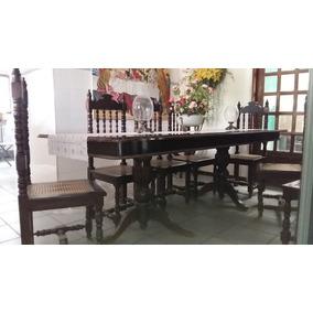 Conjunto Mesa E Cafeiras Em Madeira Nobre Imbuia