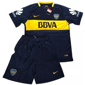 Camiseta Boca Junior + Short Kit Niño Kid Nene 2018 Original