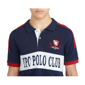Playera Polo Club Azul Franja Blanca Juvenil