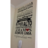 Adesivo Decorativo Parede - Frase Nesta Casa Amamos Família