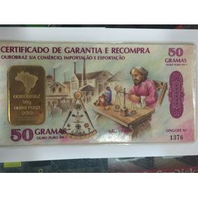Barra 50 Gramas De Ouro Puro 999