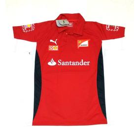 6893507017 Camisa Polo Ferrari Santander Bordado Fórmula 1 F1 · 2 cores