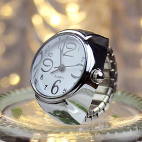 Relógio Feminino De Dedo Anel Quartz Mostrador Branco
