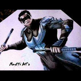 Desenho Realista A Lápis Personagens Marvel Dc Frete Grátis