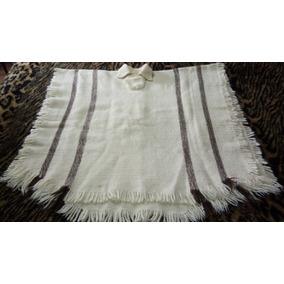 Poncho Pala De Pura Lã