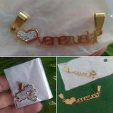 Dije Acero Collar Cuero Cadena Mapa Venezuela Medalla Santos