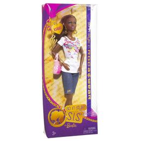 Barbie Negra Sis Style Roca Wear Kara - Braços Articulados