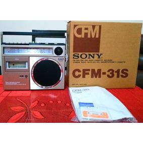 Rádio Gravador Toca Fita Sony Cfm-31s Novo Antigo Anos 70/80