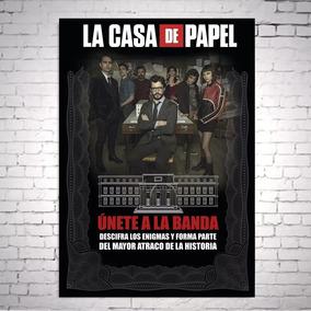 Poster Cartaz La Casa De Papel Money Heist A3