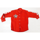 Camisa Masculina Rodeio Vermelha Pbr Country Social Casual 555d449a7ba