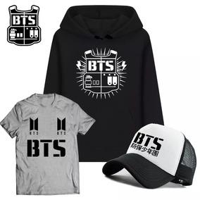 38d08ea438 Kit Moletom + Camiseta + Boné K-pop Bts Japão Banda Top