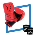 Kit Boxe Iniciante Luva + Bandagem 3m + Caneleira Protetor