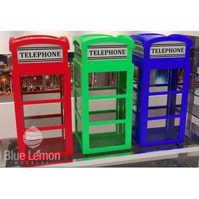Exhibidor En Forma De Cabina Telefónica