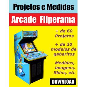 Projetos E Medidas Arcade Fliperama - Download
