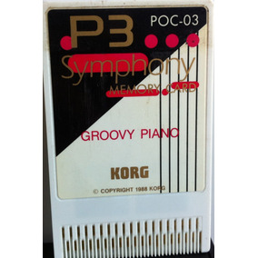 Symphony Memory Card Groovy Piano Para O Módulo P3 Korg