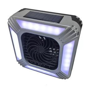 Mini Ventilador Recargable Con Luz Led Con Panel Solar