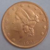 Replica- Copia Una Morocota 20d- No Es De Oro 1891