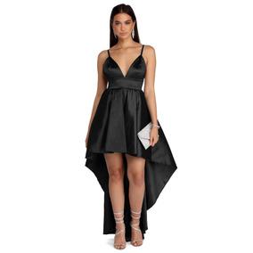 54b27d755 Vestido Cola Pato Negro - Vestidos de Noche Largos de Mujer Negro en ...