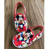 Tênis Sapatenis Infantil Personagem Mickey Mouse Sem Cadarço
